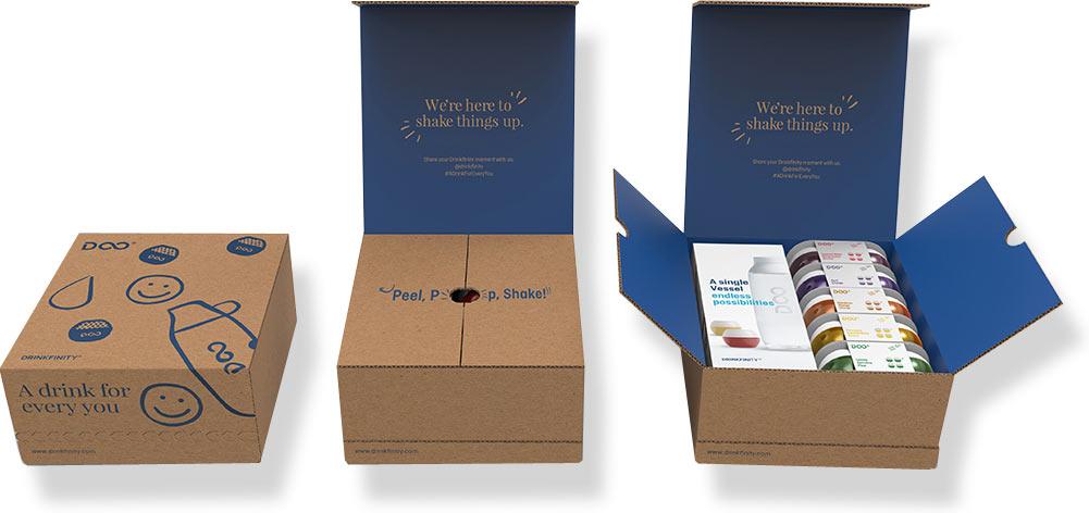 коробки с фирменным дизайном