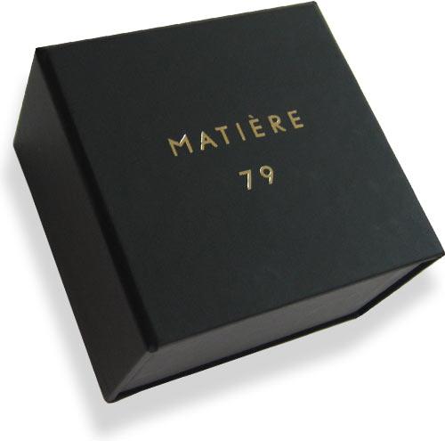 черная кашированная коробка с матовой ламинацией