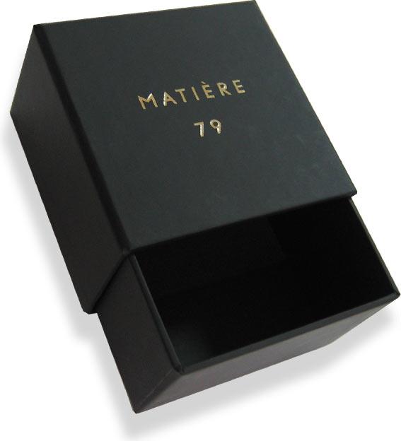 выдвигающаяся кашированна коробка с логотипом