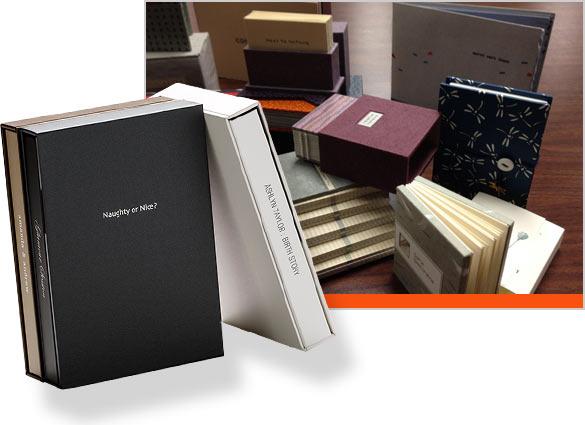 коробка из переплетного картона с логотипом