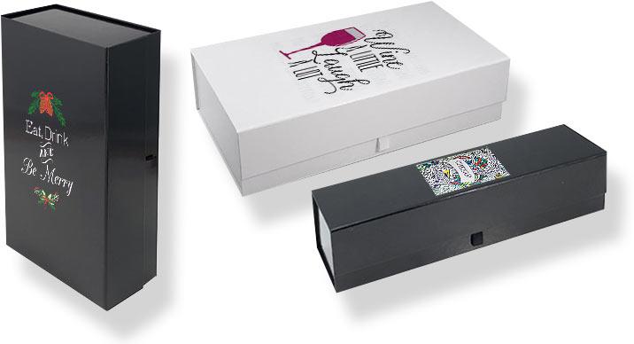 коробка на магнитах с откидной крышкой