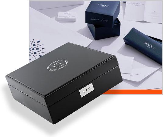 стильные коробки с печать логотипа