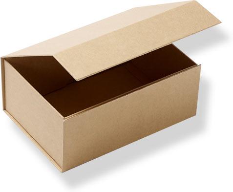 крафтовая коробка с клапаном на магните