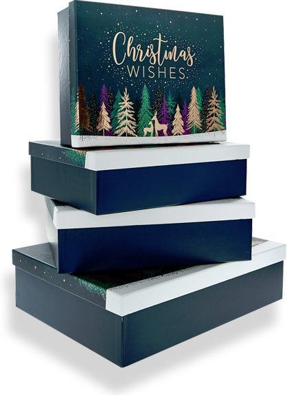 новогодняя коробка для корпоративных подарков