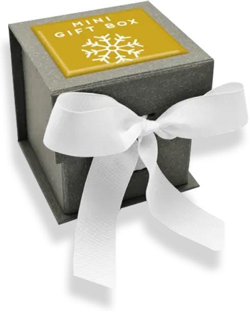 новогодняя коробка с логотипом компании