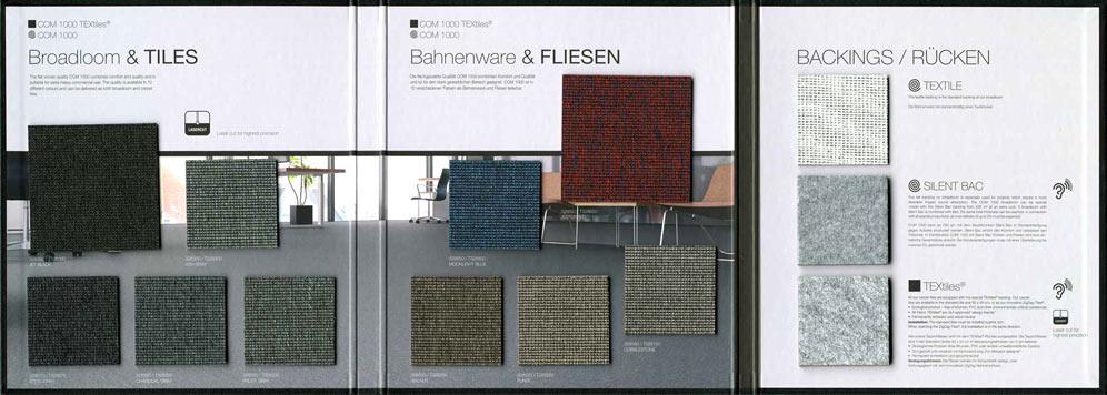 демонстрация образцов ковровых покрытий