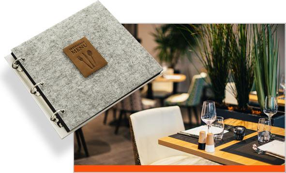 папка меню ресторана